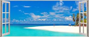 Huge-3D-Panoramic-Exoitic-Tropical-Beach-Window-View-Wall-Stickers-Mural-136