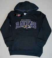 Baltimore Ravens Hooded Sweatshirt Hoodie Youth S M L Xl Charcoal Gray