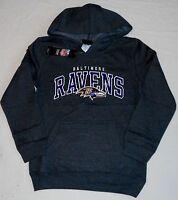 Baltimore Ravens Hooded Sweatshirt Hoodie Youth S M L Xl Charcoal Gray