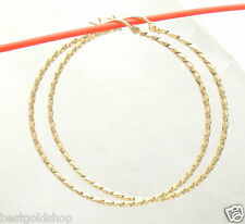 "Bellezza 60mm 2 3/8"" Round Large Twisted Hoop Earrings Bronze Yellow Color"