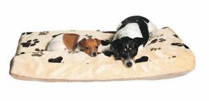 Trixie Coussin Gino 120x75 cm Beige / marron clair M. Housse en peluche pour chien, oreiller pour chat