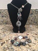 Lia Sophia Winding Necklace 22-25 & Bracelet