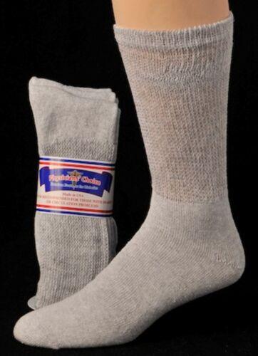 Diabetic Cushioned Crew Socks 3 6 or 12 Pair Men/'s Women/'s //Ladies Sizes 9-15