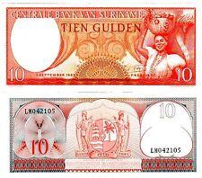 Suriname  SURINAM Billet 10 GULDEN 1963 P121 UNC NEUF