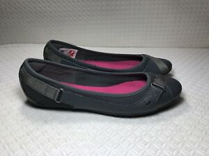 Puma-Women-039-s-Eco-Ortholite-Gray-Patent-Leather-Walking-Flats-Shoes-Size-8-5