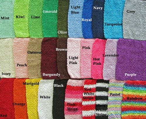 "9/"" Crochet Waffle Headbands~ Tutu Tops LOT of 10 HEADBANDS"