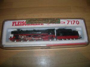 Fleischmann-N-Piccolo-7170-DB-4-6-2-Loco-BR-011-006-6-Black-Red-near-Mint-Boxed