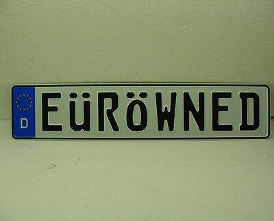 eurowned genuine euro tag european license plate for your triumph delorean vw