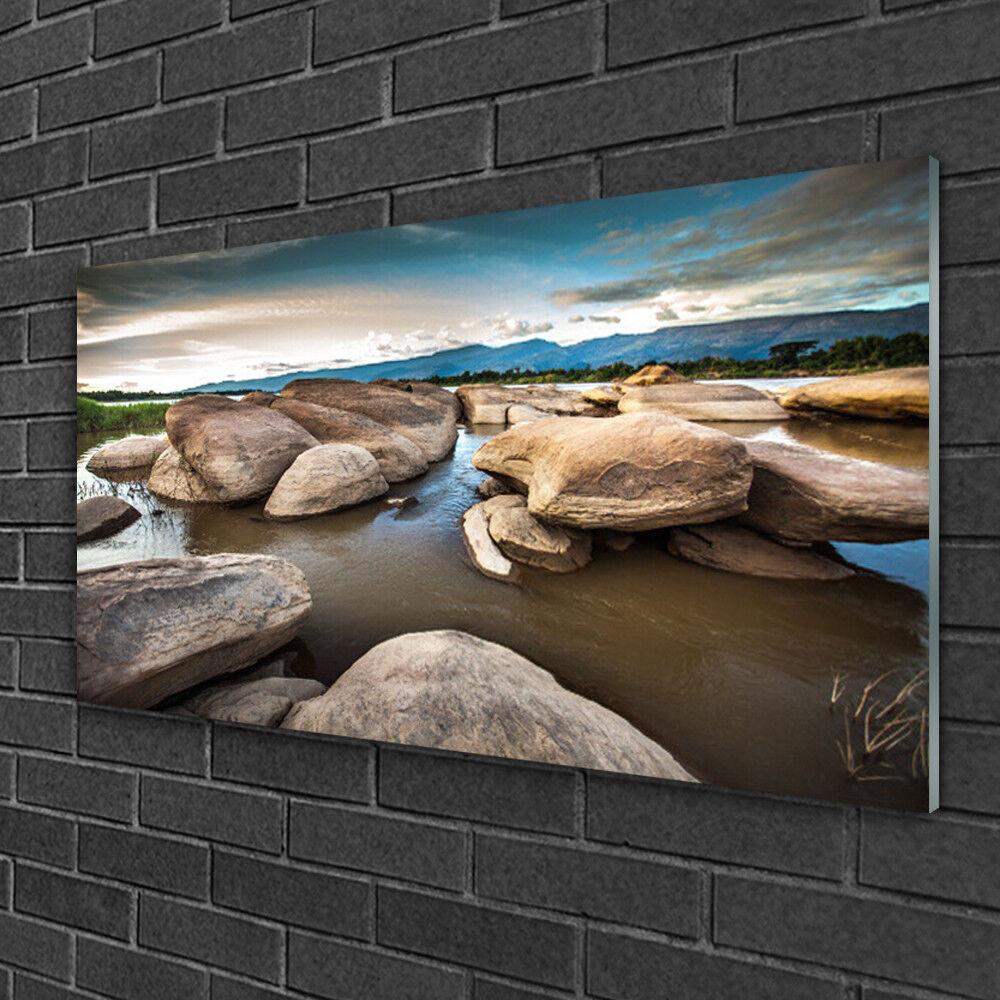 Tableau sur verre Image Impression 100x50 Paysage Roche