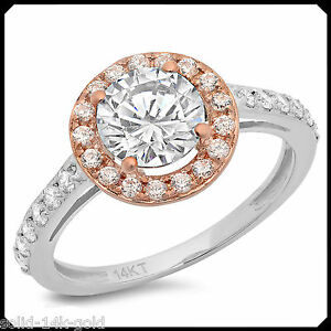 Ann-2-35CT-Diamond-VVS1-D-Solid-14K-White-Rose-GOLD-Engagement-Wedding-Halo-Ring