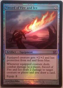 Epee-d-039-eau-et-de-feu-PREMIUM-FOIL-Modern-Masters-Sword-of-Fire-and-Ice-Mtg