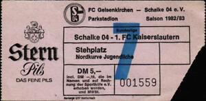 Ticket-BL-82-83-FC-Schalke-04-1-FC-Kaiserslautern-Stehplatz-Nordkurve