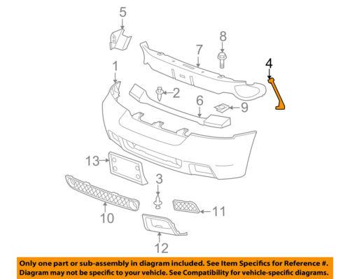 Chevrolet GM OEM Trailblazer Front Bumper-Bumper Cover Brace Right 21994091  Car & Truck Parts Car & Truck Bumpers & PartsManiumpathy