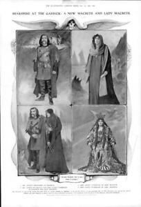 1906-Antique-Print-LONDON-GARRICK-THEATRE-Macbeth-Violet-Vanbrugh-400