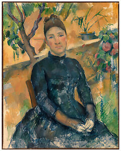 "Post-Impressionism ""Madame Cézanne in the Conservatory"" Paul Cézanne ca. 1891"