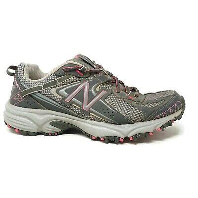 Posteridad Atravesar Con otras bandas  New Balance Womens 411 All Terrain Running Shoes Sz 7 Grey Pink Lace Up  WT411GP2 | eBay