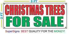 2x5 CHRISTMAS TREES FOR SALE Banner Sign NEW Larger Size Red & Green