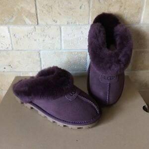 33f77868f99 Details about UGG COQUETTE PORT SUEDE SHEEPSKIN SLIP-ONS SLIPPERS SHOES  SIZE US 5 WOMENS