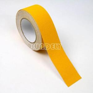 "4/""Yellow ANTI SLIP TAPE Grip Adhesive Backed Non Slip Safety Floor Steps Trailer"