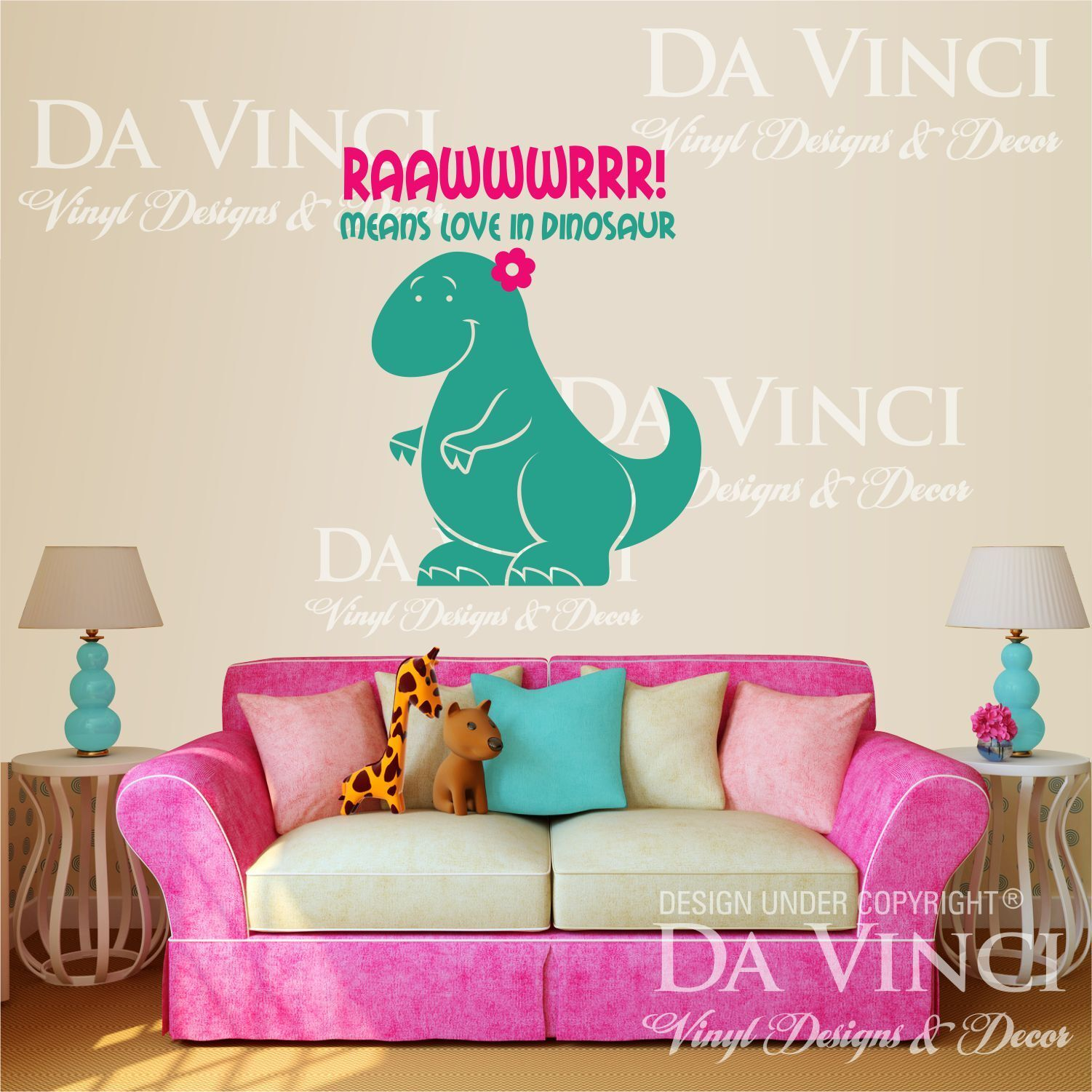 Dinosaur Girl Quote Vinyl Wall Decal Sticker Decor P