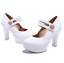 Women-Platform-Pumps-Round-Toe-Solid-Sandals-High-Heel-Stilettos-Mary-Jane-Shoes thumbnail 8