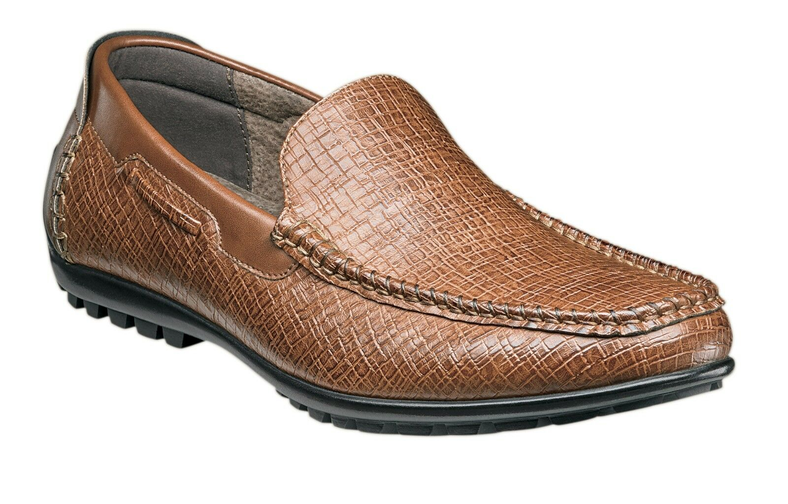 Stacy Adams Men's Kian Moc Toe Slip on Driver Driving Style Loafer - Tan