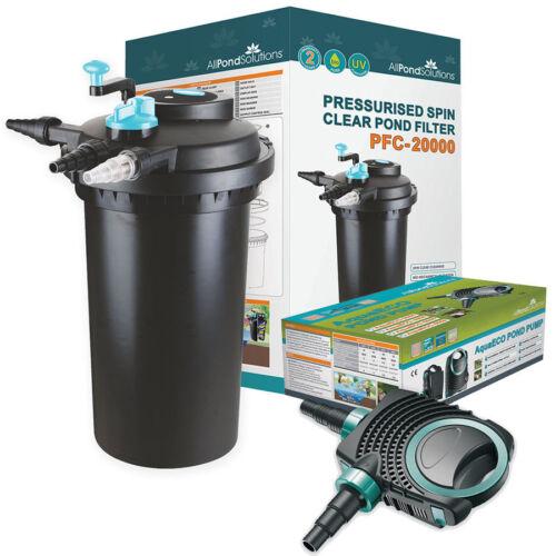 UV Stérilisateur Filtre pressurisé complète étang-tout en un-filtre pompe