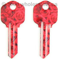 2 Color House Key Blanks Kw1 For Kwikset - Rose