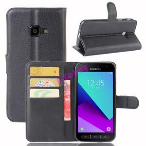 Magnetique-Portefeuille-Cuir-PU-Etui-Clapet-Housse-pour-Samsung-Galaxy-Xcover-4