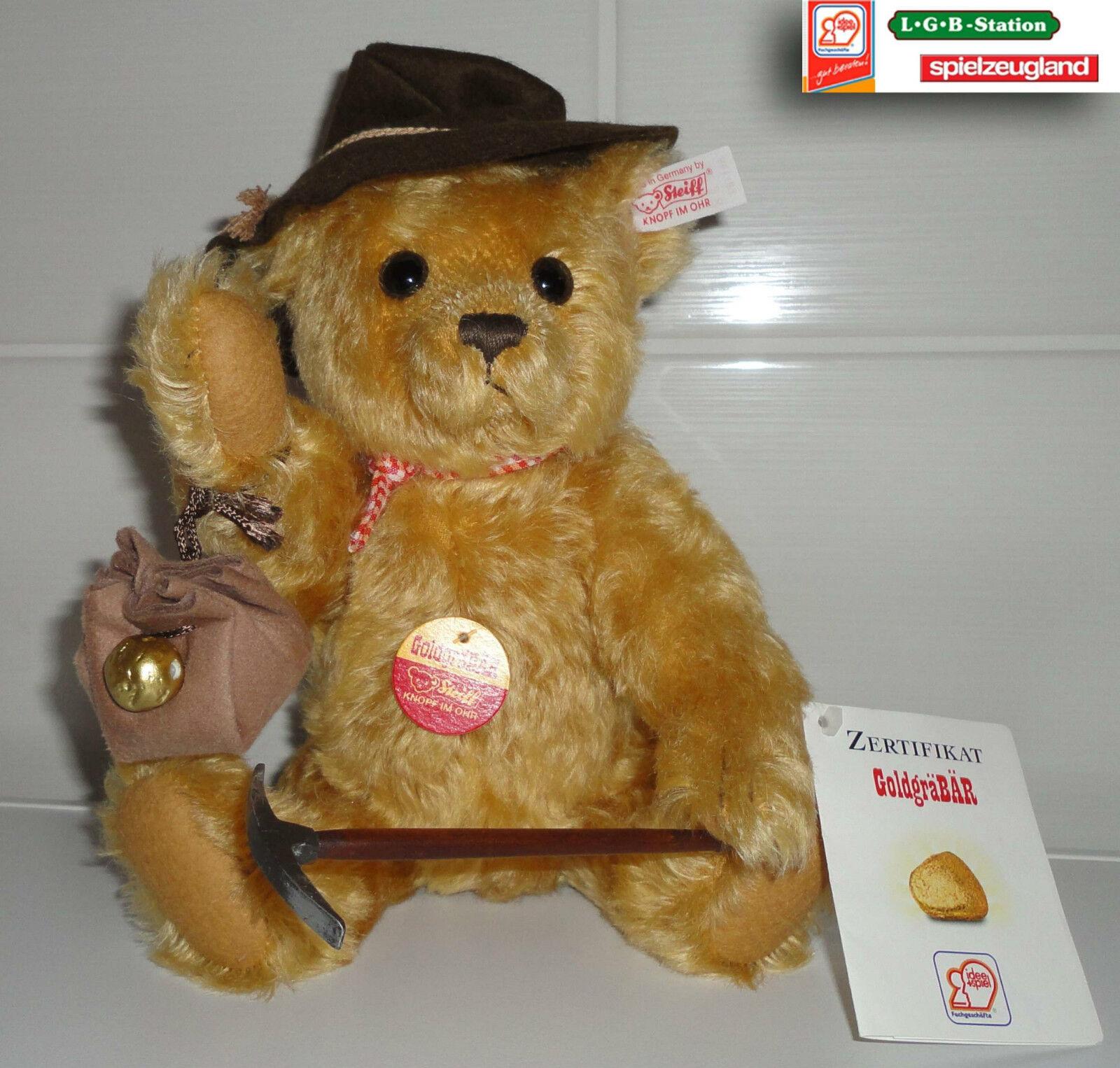 Steiff Sammler Teddy Teddy Teddy  GoldgräBÄR  EAN 651182 Sammlernummer 00146   Neu 6aeab3