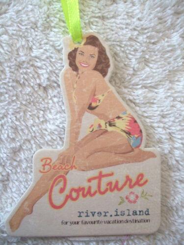 EX River Island Borchiato Bikini Twist Top a Fascia O Fondo Mix N Partita Cachi