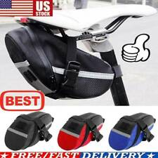 MTB Bike Bicycle Saddle Bag Under Seat Storage Tail Pouch Cycling Rear Pack HB