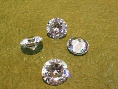 FOUR  PCS 0.25 Carat Russian Sim Diamond BRILLIANT CUT WHITE 4.1 MM