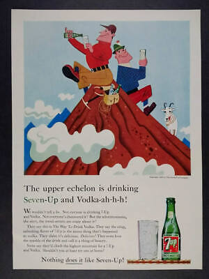 Poster Wall Art Vintage 7up Advert 1953 reprint in Various Sizes
