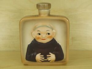 Vintage-Goebel-Friar-Tuck-Monk-Liquor-Flask-w-Cork-Stopper-W-Germany