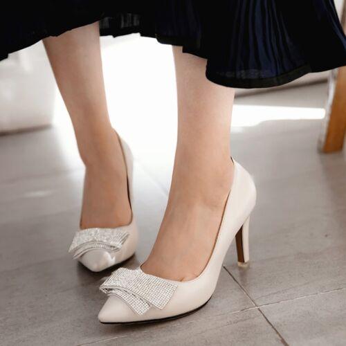Elegant womens ladies pointed toe pumps high heels dress shoes sizes vogue