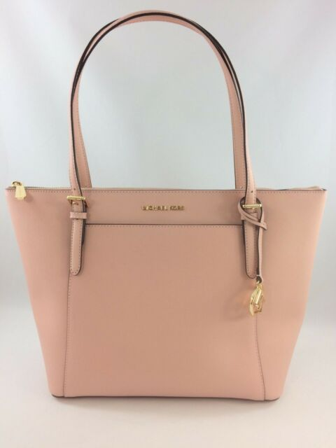 East West Top Zip Tote Pastel Pink