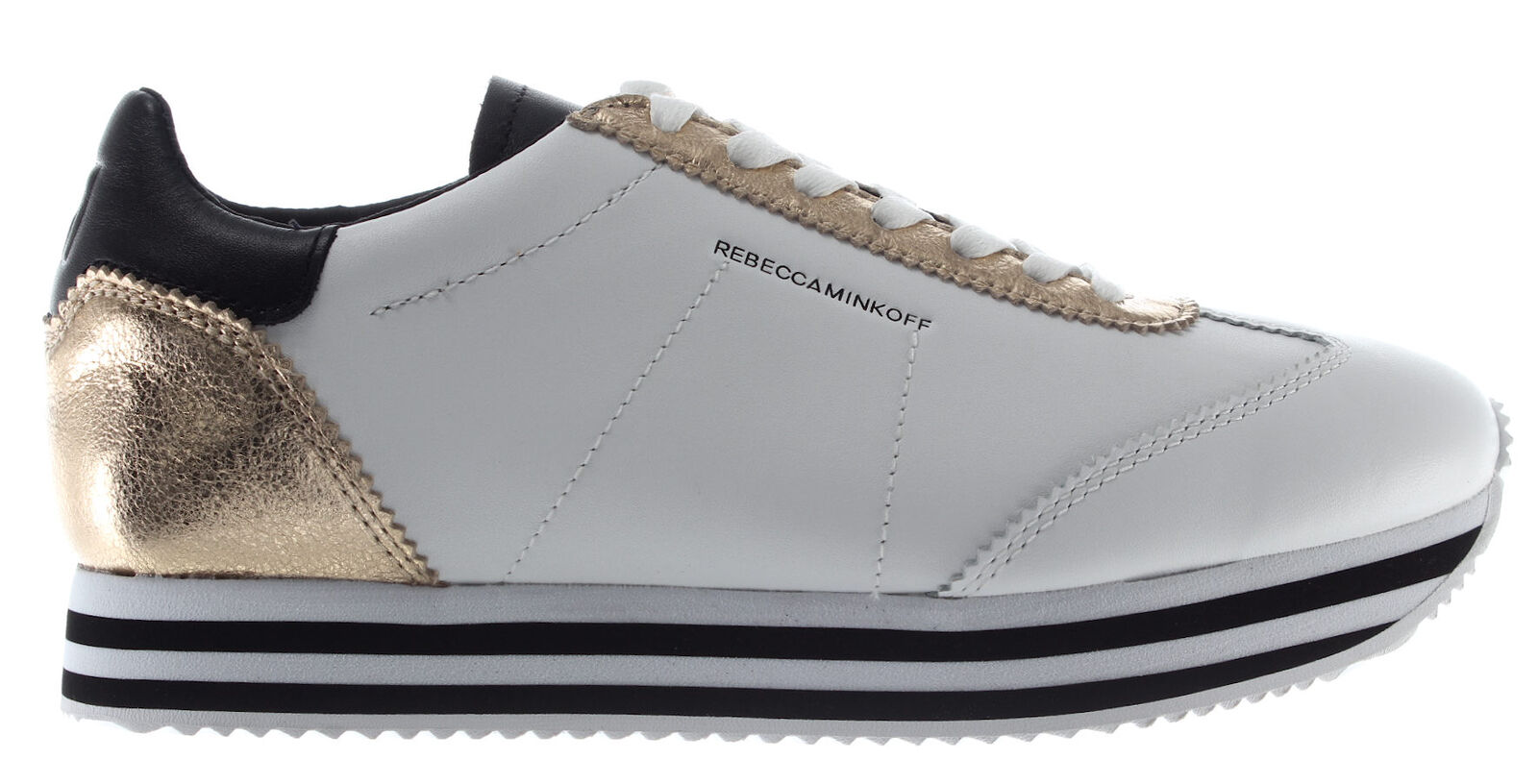 REBECCA MINKOFF shoes shoes shoes women Sneakers RMSZLK01 WPLT Susanna Pelle Bianco gold New 170df4