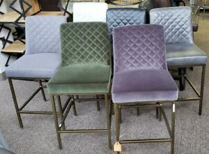 BRONZE LEGS COUNTER HIGH BAR STOOLS IN 6 COLORS - KITCHEN STOOLS Toronto (GTA) Preview