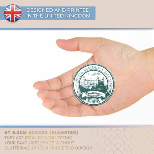 Awesome Fridge Magnet Bratislava Slovakia Travel Stamp Cool Gift #7097
