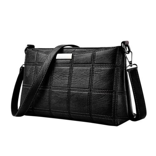 Damen Leder Tasche Plaid Umhängetasche Kleine Square Handtasche SchultertascheEU