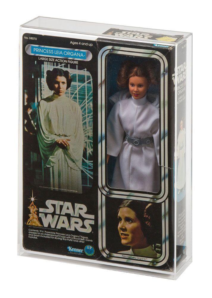 Star wars (ben kenobi, luke, leia und han solo) 12 - zoll - acryl - schaukasten