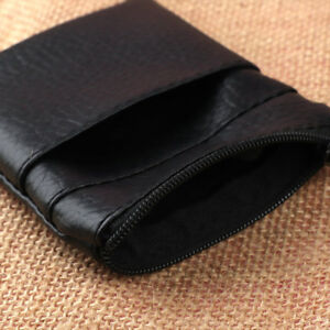 Durable-Pu-Leather-Black-Coin-Purse-Men-Women-Card-Holder-Mini-Short-Wallet-Bag