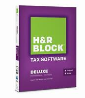 H&r Block Tax Software Deluxe 2014 For Pc & Mac, Brand Sealed