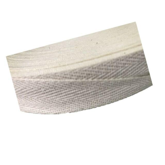 1 1//2-50Yard, White QIANF Eco Friendly Twill Tape Ribbon 100/% Cotton White 1 1//2 Wide 50 Yard Roll Herringbone Tape