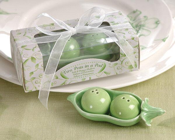 Two Peas in a Pod Salt & Pepper Shaker Favor Bridal Wedding Favor 12-25-50-96