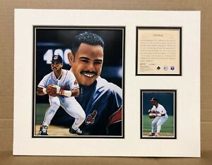 Cleveland Indians Carlos Baerga 1996 Baseball 11x14 MATTED Kelly Russell Print