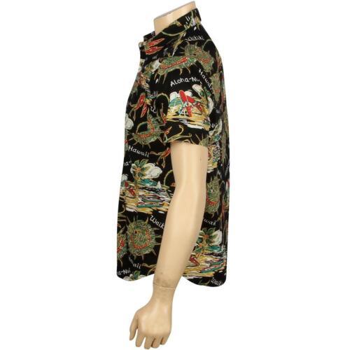 HUF Souvenir Woven Short Sleeve Shirt black