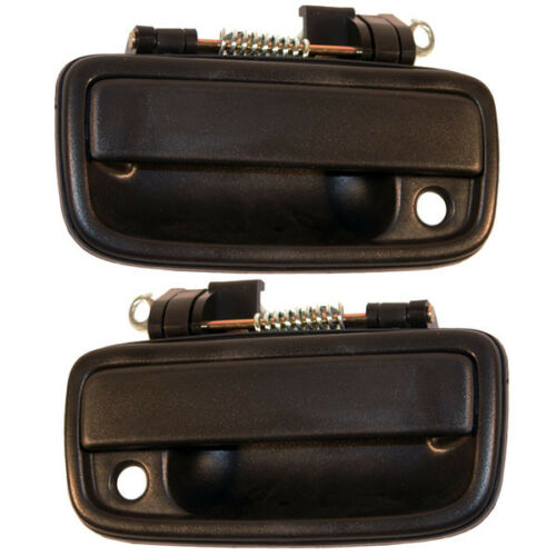 For 95-04 Tacoma Pickup Truck Front Outside Exterior Black Door Handles Pair