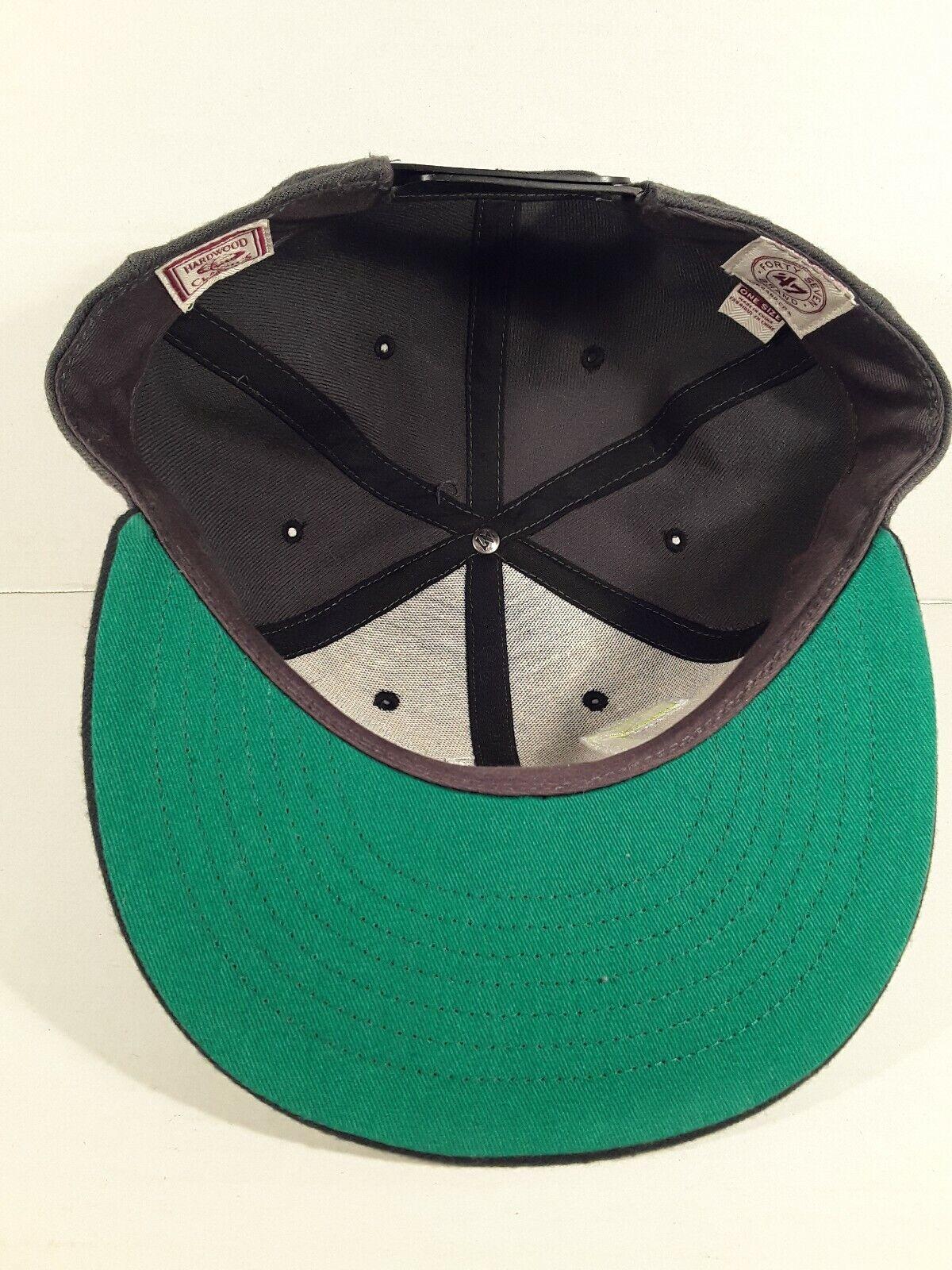 Brand New Utah Jazz Mash Up Upside Down Hat Cap 47 Brand Green Adjustable